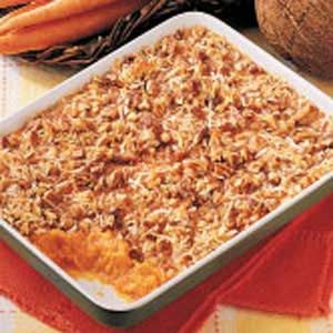 Carrot Casserole...better than sweet potato casserole! The coconut gives it that tropical zing!