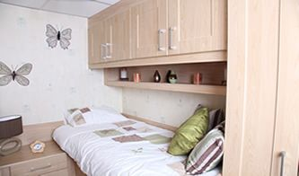 Low level cabin bed for girls and boys