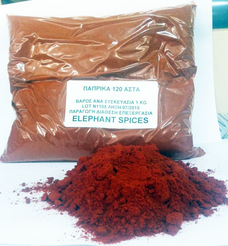 The herb Paprika in package