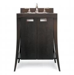 28 Inch Modern Single Sink Bathroom Vanity with Wood Counter Top