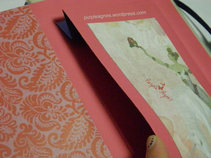 Handmade Journals for 2 sisters, inside cover, back pocket, picture 6