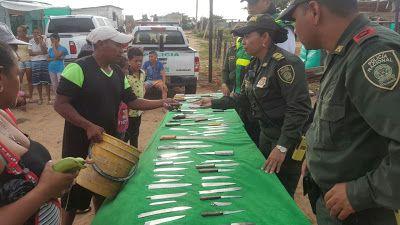 Policía Nacional realizó en La Guajira 'Plan Desarme Comunitario'