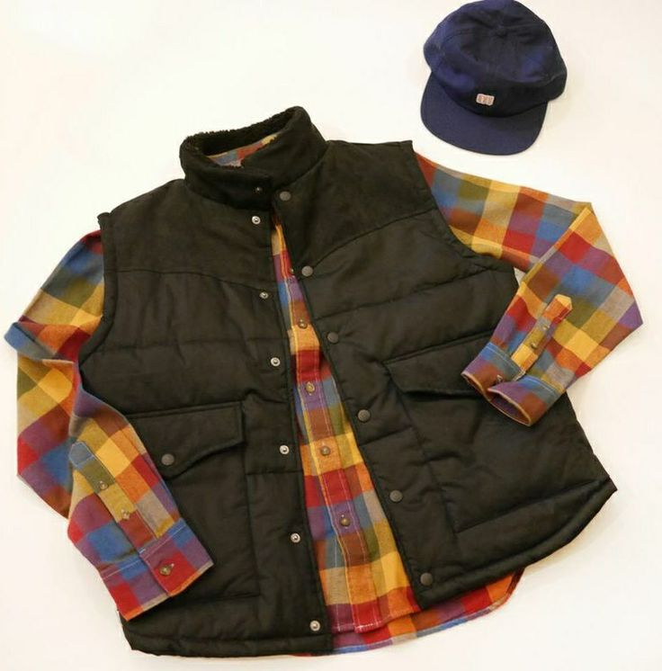 Plaid shirts and puffy vests! Classic hunting look with an urban twist. Shop online at store.aquirkoffate.com/mens