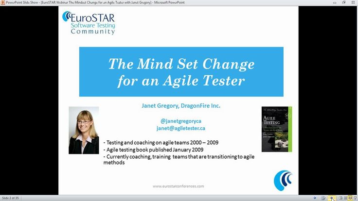 """The Mind Set Change for an Agile Tester"" with Janet Gregory"