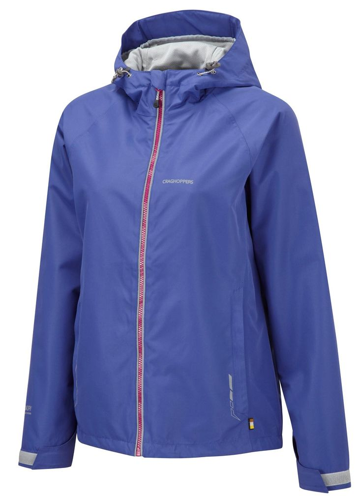 A lightweight waterproof jacket that packs into its lower outer pocket.