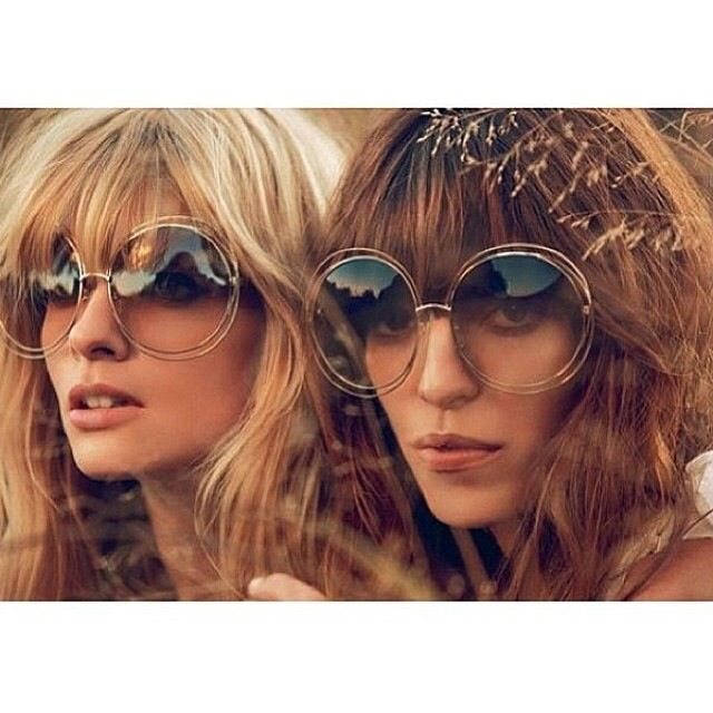 Hair & glasses