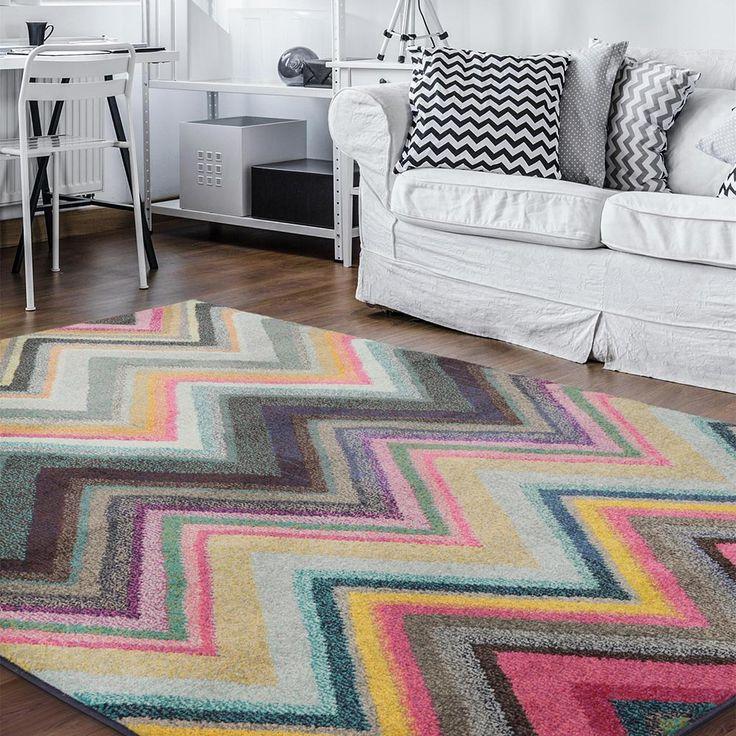 Teppich Casa: Farbenfroher Teppich mit Zick Zack Muster - Wunderschön und stilvoll! :)