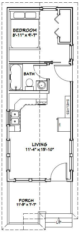 #shed #backyardshed #shedplans 12x32 Tiny House -- #12X32H1 -- 384 sq ft - Excellent Floor Plans