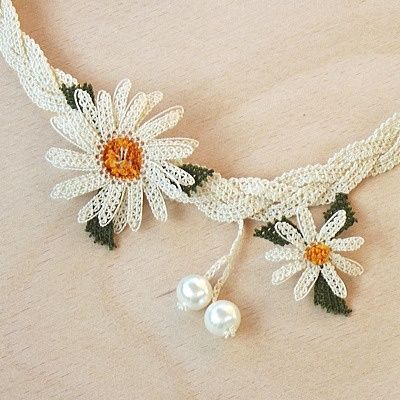 Iğne OYA Lace - Necklace - Daisy