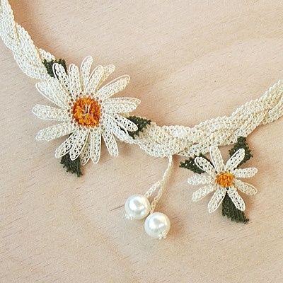 Iğne OYA Lace - Necklace - Daisy