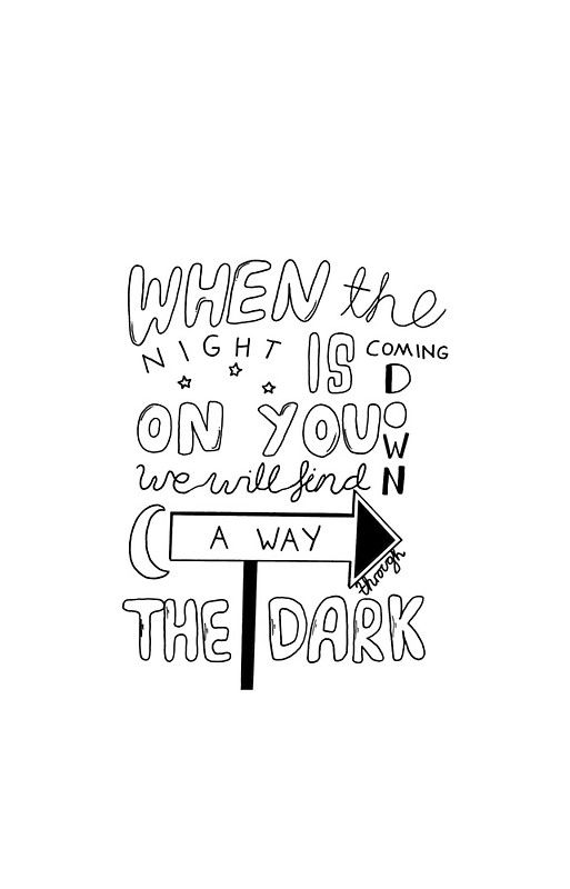 """One Direction Through The Dark Lyrics"" iPhone Cases & Skins by danielamassaro 
