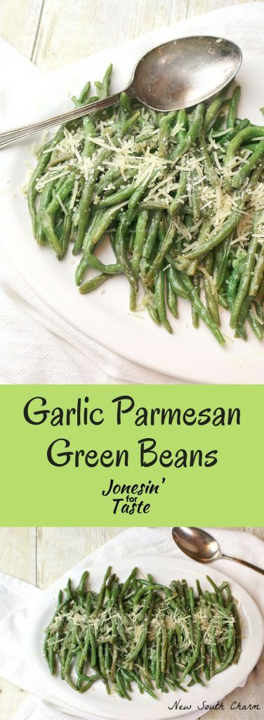 Simple and easy Parmesan Garlic Green Beans are the perfect side dish.
