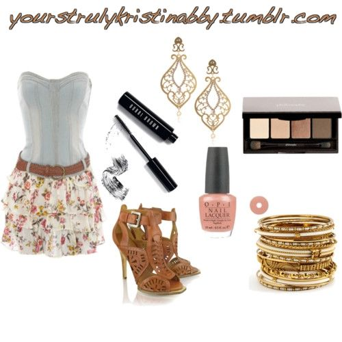 Cute! Not crazy about the shoes: Clothing 3, Summer Concerts, Floral Skirts, Country Girls, Summer Outfits, Polyvore Outfits, Beautiful Fashion 3, The Dresses, Corsets Tops