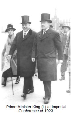 Prime Minister King (L) at Imperial Conference of 1923