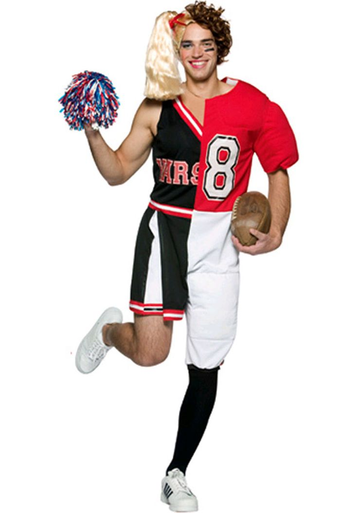 half cheerleader half football player costume must see funny at escapade - Halloween Costume Football