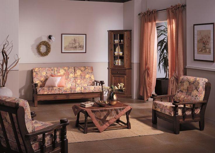 #Salotti in legno massiccio di pino, con cuscini ergonomici. Collezione Demar Mobili pino. #mobili #arredamenti #salottirustici #produzione #divani #poltrone #OFFERTE #PROMOZIONI www.demarmobili.it