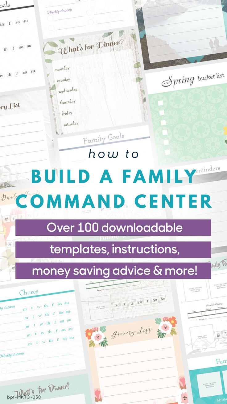 Calling all DIYers! Building your own family command center has never been easier!  Access over 100 templates, organizational tips and money saving advice.