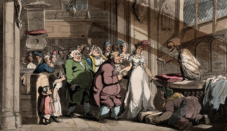 The dance of death: the wedding by T. Rowlandson, 1816. The Wellcome Library, CC BY