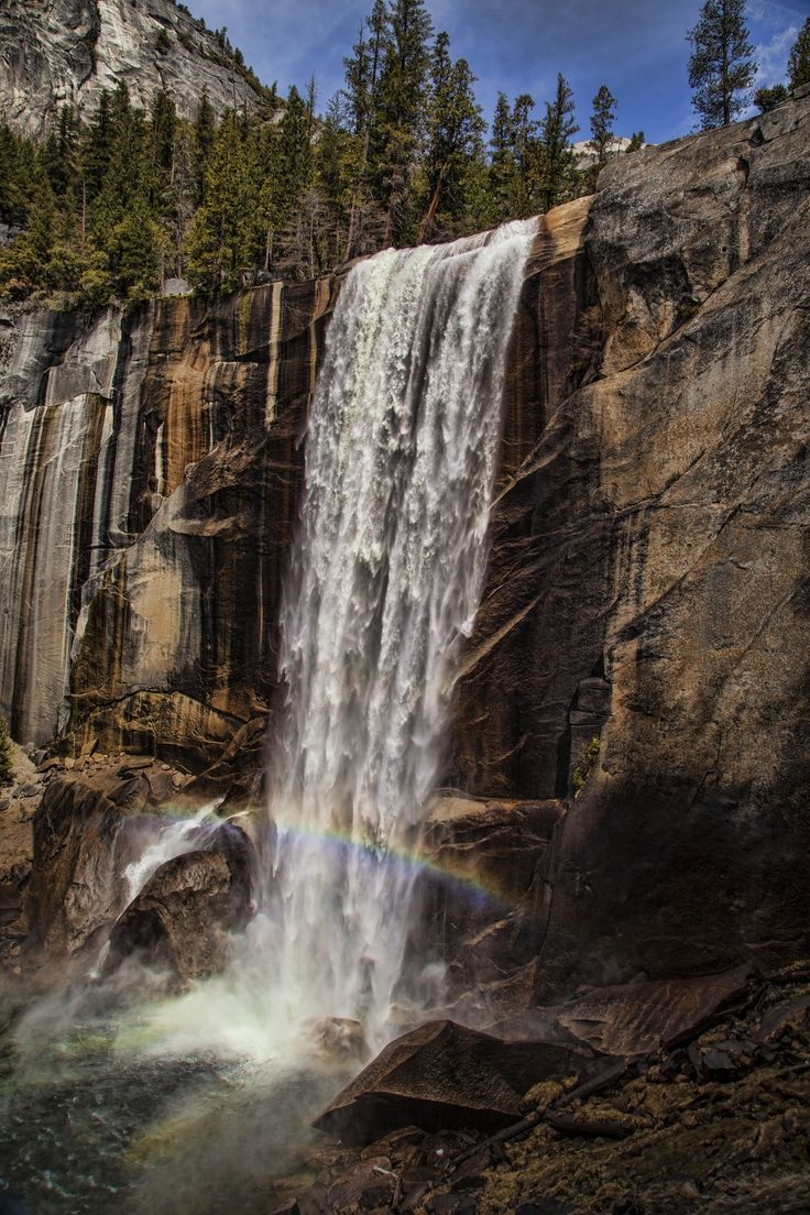 Water Fall Rainbow... In the Yosemite National Park by Florin Design on 500px.