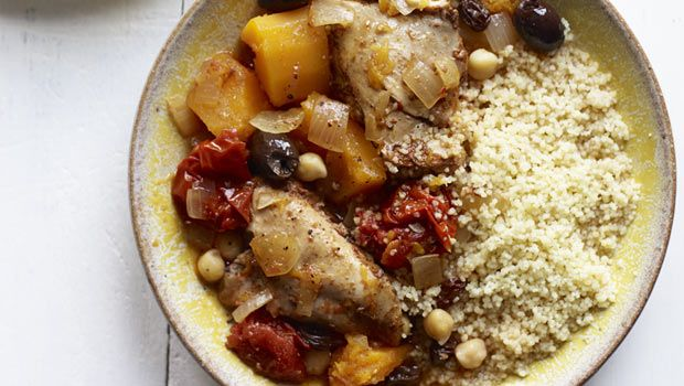 Slow Cooker Moroccan Chicken w/ Couscous - Try instead with boneless ...