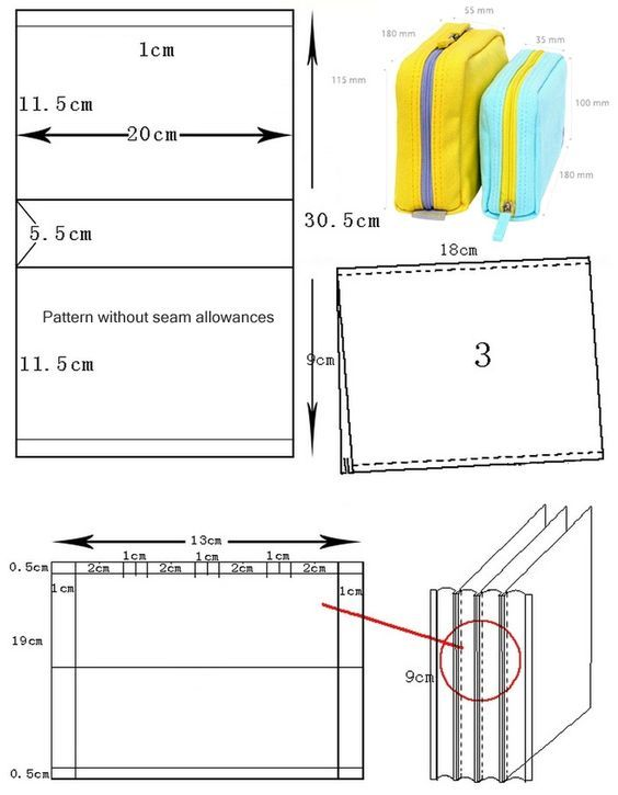 Multi-functional Bag / Bankbook Pouch. Sewing Pattern and Tutorial:
