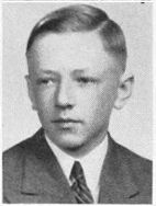 Charles M. Schulz in his 1940 high school yearbook.