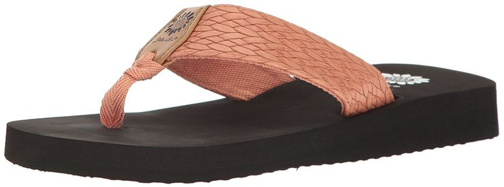 Yellow box women's flax wedge sandal
