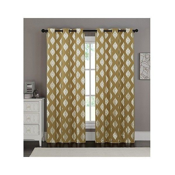 sorrento curtain panel pair gold 30 liked on polyvore featuring home