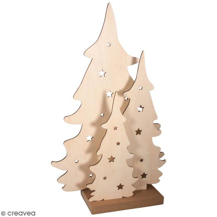 Kit Silueta Árbol de madera 54 cm - 3 uds