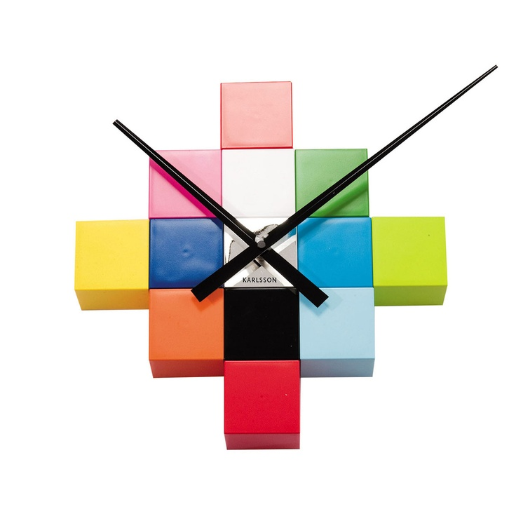 Cubic DIY Wall Clock Multi  by Box32 Design