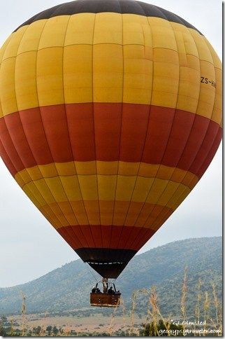 Hot air balloon Pilanesburg Game Reserve South Africa http://geogypsytraveler.com/2014/01/26/wildlife-volcanic-crater-pilanesberg-game-reserve/