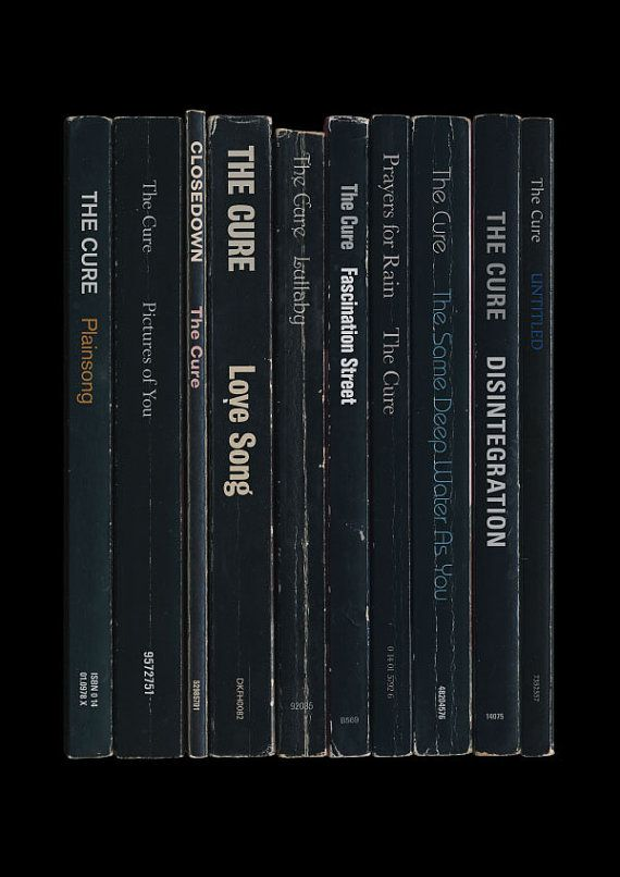 The Cure Disintegration Album As Books Poster by StandardDesigns, £12.50