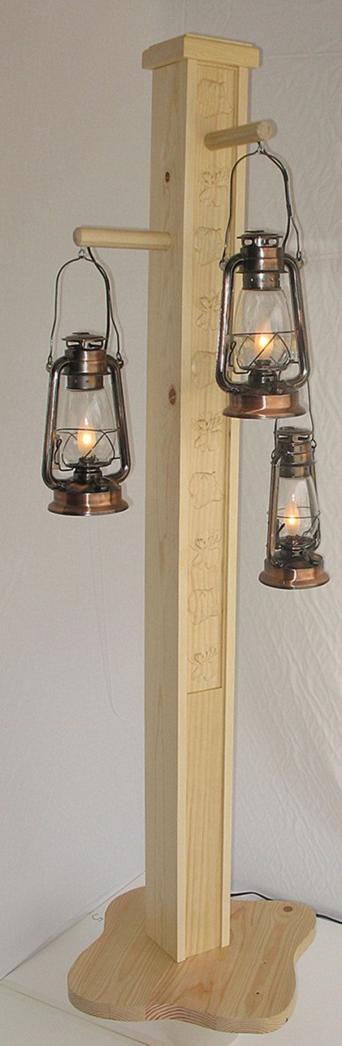 Rustic+floor+lamp+with+old+fashioned+electrified+by+HomesteadLamps,+$749.95