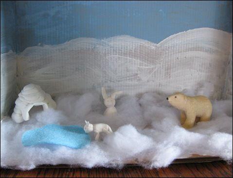 polar bear diarama | ... den for the polar bear. We included a polar bear that we already had