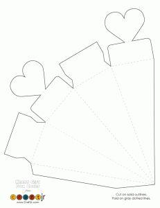 Heart Favor Box / Cone Template
