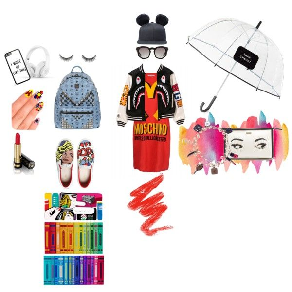 A fashion look from February 2015 featuring Moschino dresses, MOA Master of Arts sneakers and MCM backpacks. Browse and shop related looks.