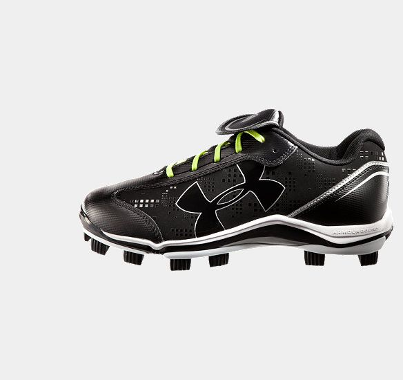 Women's UA Glyde TPU Softball Cleats. Great cleats for girls softball. They are $34 bucks at Dick's