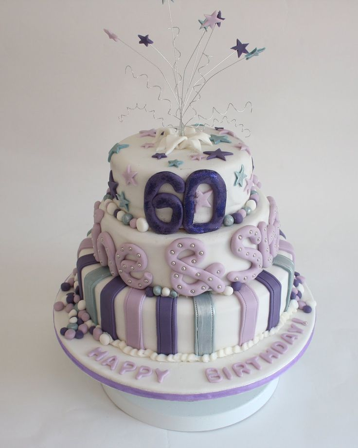 62 best images about cakes on pinterest birthday cakes for 60th birthday cake decoration