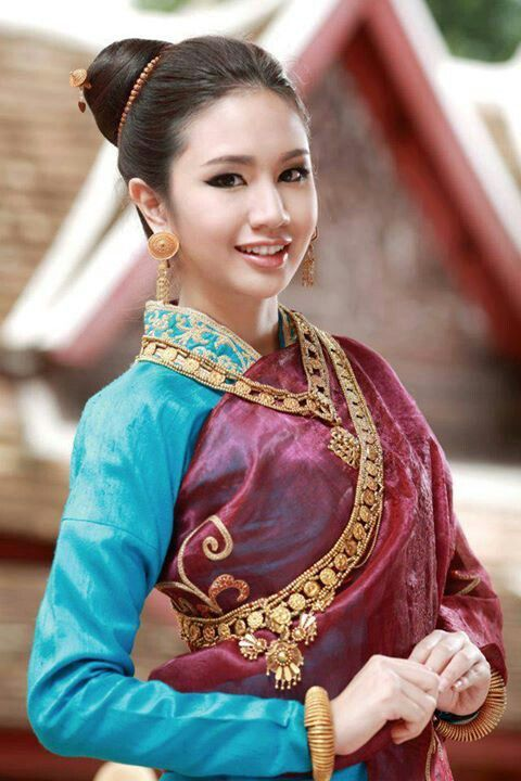 Laos traditional outfit