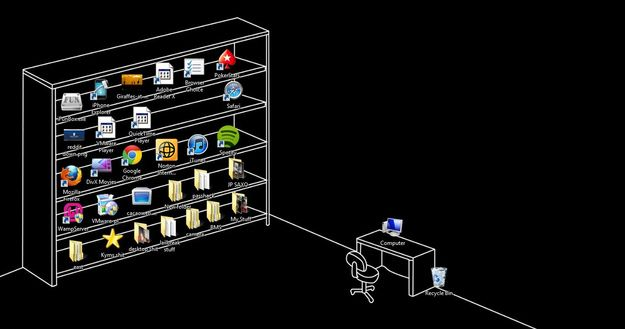 The World's Second-Cleverest Desktop Wallpaper Idea | 26 Of The Best Ideas Ever --- I WANT TO DO THIS SOMEHOW.