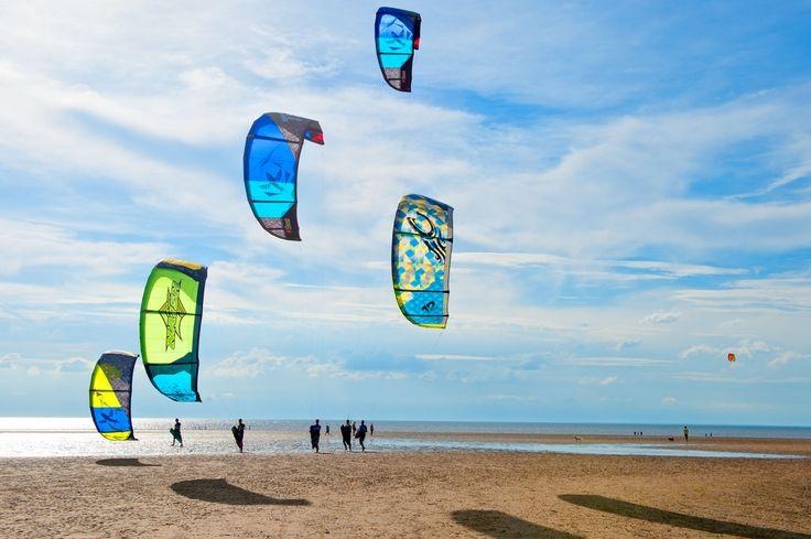 Kites on the beach at Old Hunstanton