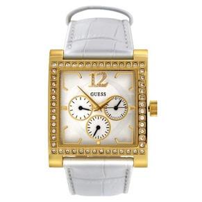 Goud - wit Guess horloge voor dames!