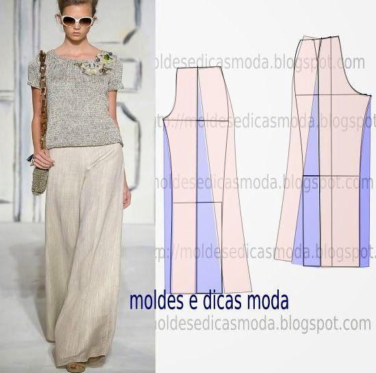 Moldes Moda por Medida: MOLDE DE CALÇAS - 12: