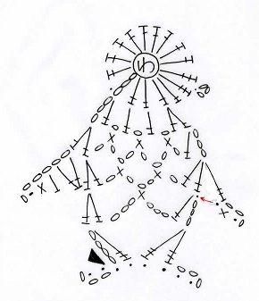 ペンギンのモチーフ(編み図付き、ぺんぎん) : Crochet a little