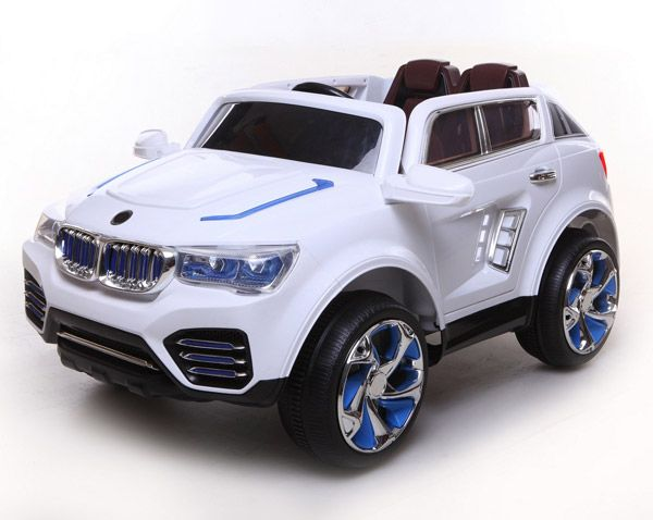 Kids Cars 12 Volt Electric Battery Operated Ride On X5 Sports Wagon - White