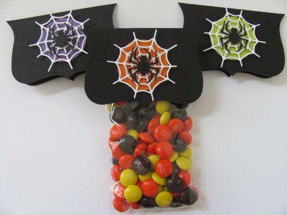 Faveur de Halloween Candy sacs Spider Web des faveurs de
