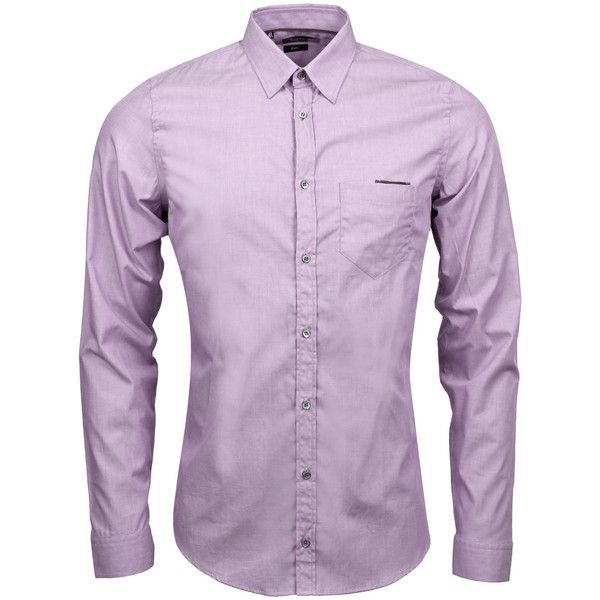 Gucci Lilac Oxford Cotton Slim Fit Shirt (£13) ❤ liked on Polyvore featuring men's fashion, men's clothing, men's shirts, men's dress shirts, men, mens slim shirts, mens oxford cloth shirts, mens slim fit formal shirts, mens cotton oxford shirts and mens formal shirts