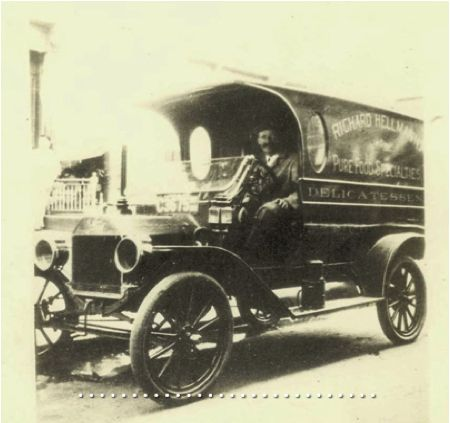 Remember the milk man? What about the MAYO man? In 1913, jars of Hellmann's were delivered fresh to every door step!