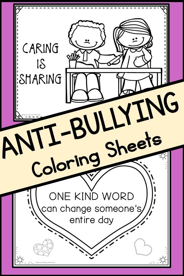 Anti Bullying Activities Posters With Quotes And Coloring Pages