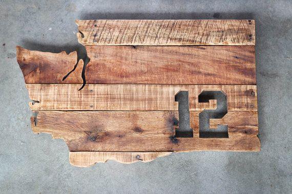 Seattle Seahawks 12th Man Wood Sign, Seattle Seahawks Washington Sign, 12th Man, Hawks, Man Cave, Wall Art, Home Decor